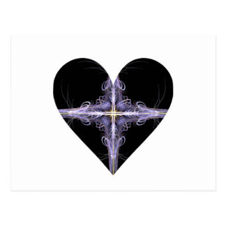 Filigree Design Fractal Art Heart Postcard