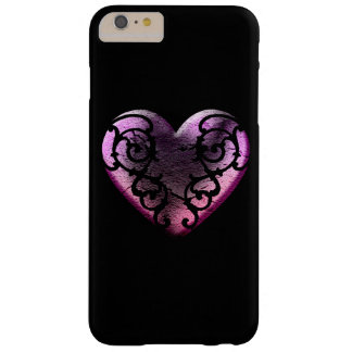 Filigree Goth Pink Heart Barely There iPhone 6 Plus Case