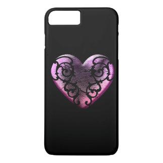 Filigree Goth Pink Heart iPhone 8 Plus/7 Plus Case