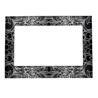 Filigree Graphite Photo Frame Magnet