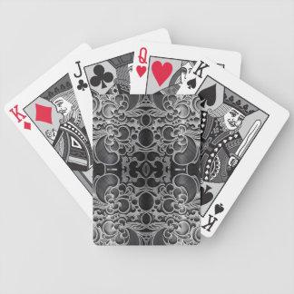 Filigree Graphite Poker Cards
