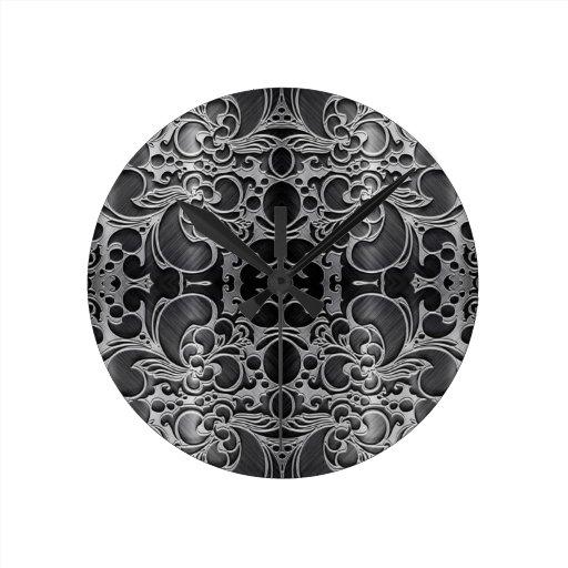 Filigree Graphite Wall Clocks