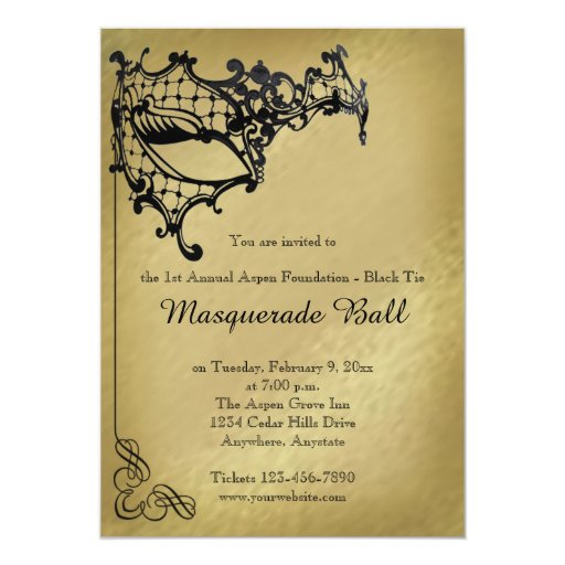 Filigree Masquerade Mardi Gras Ball Invitation | Zazzle