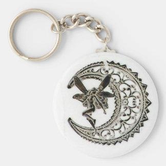 Filigree Moon Fairy Keychain