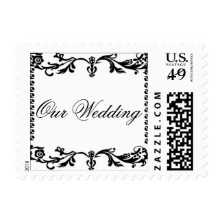 """Filigree """"Our Wedding"""" Postage Stamps"""