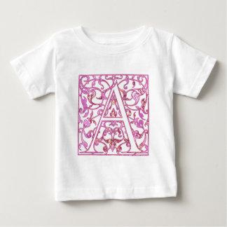 Filigree Pink A Monogram T Shirt