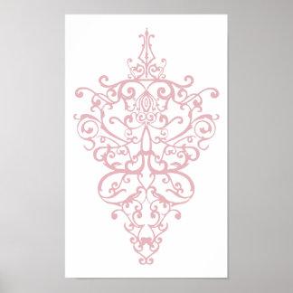 filigree pink poster