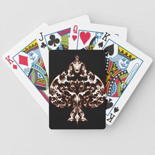 Filigree Spade Bicycle Playing Cards