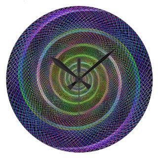 Filigree spiral structure large clock