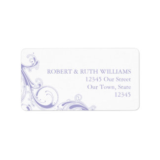 Filigree Swirl Lavender Label