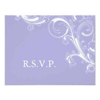 Filigree Swirl Lavender RSVP Card