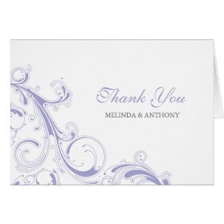 Filigree Swirl Lavender Thank You Card