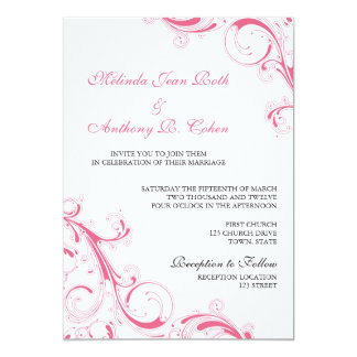 Filigree Swirl Pink Card