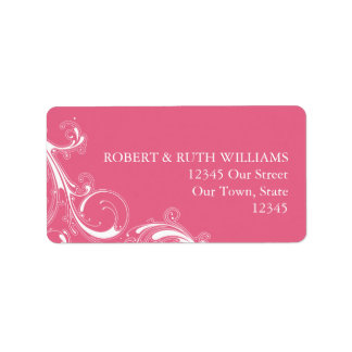 Filigree Swirl Pink Label