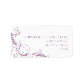 Filigree Swirl Violet Label