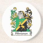 Filimonov Family Crest Drink Coaster