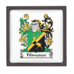 Filimonov Family Crest Premium Trinket Boxes