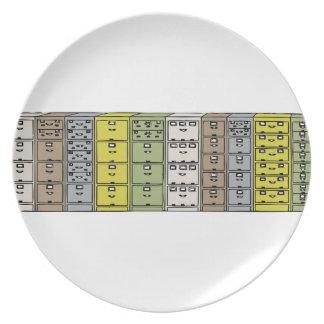 Filing Cabinets Cartoon Dinner Plate