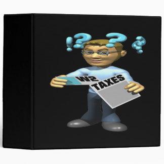Filing Taxes 3 Ring Binder