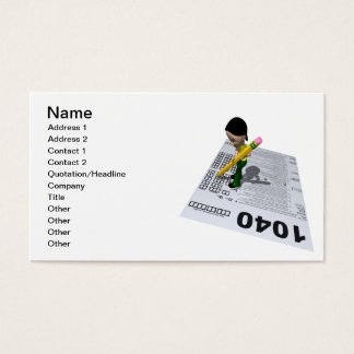 Filing Taxes Business Card