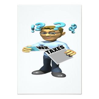 "Filing Taxes 5"" X 7"" Invitation Card"