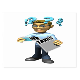 Filing Taxes Postcard