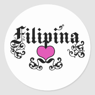Filipina Classic Round Sticker