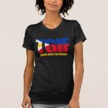 Filipina de TGIF con la bandera filipina T-shirt