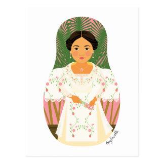 Filipina Matryoshka Postcard