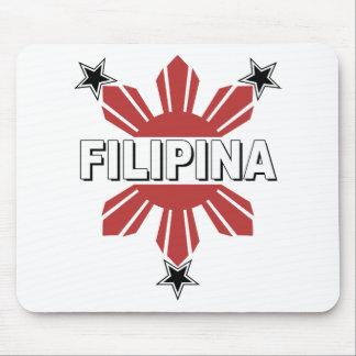 Filipina Sun and Star Mouse Pad