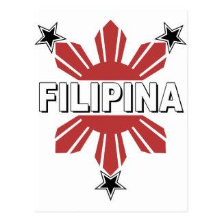 Filipina Sun and Star Postcard