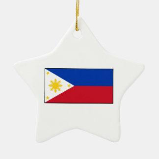 Filipinas - bandera filipina adorno de cerámica en forma de estrella