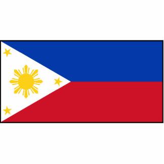 Filipinas - bandera filipina fotoescultura vertical