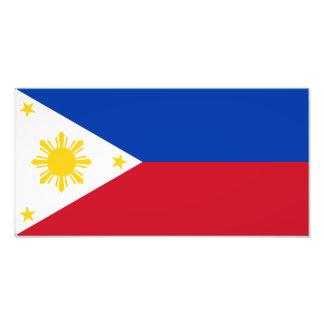 Filipinas - bandera filipina cojinete