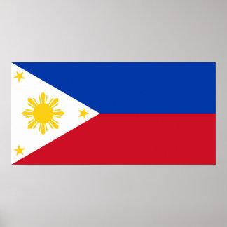 Filipinas - bandera filipina póster