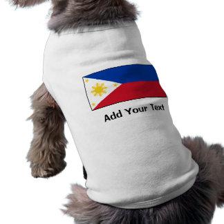 Filipinas - bandera filipina playera sin mangas para perro