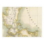 Filipinas Oceanía ningunos 4 Tarjetas Postales