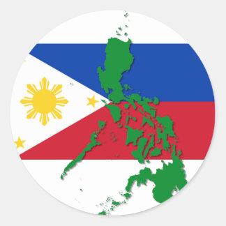 Filipinas Pegatina Redonda
