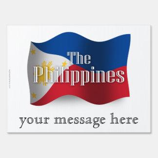 Filipinas que agitan la bandera cartel