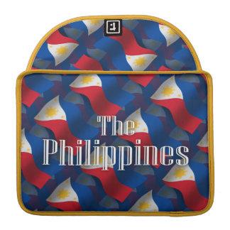 Filipinas que agitan la bandera funda macbook pro