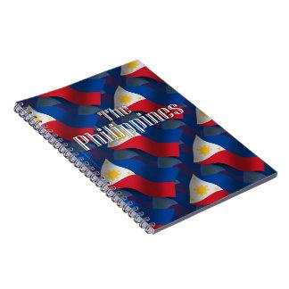 Filipinas que agitan la bandera cuaderno