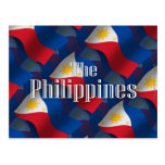 Filipinas que agitan la bandera tarjeta postal