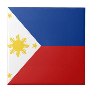 Filipinas señalan la baldosa por medio de una band azulejo cuadrado pequeño