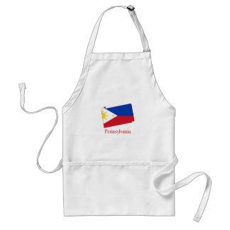 Filipinas señalan por medio de una bandera sobre delantal