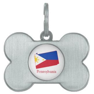 Filipinas señalan por medio de una bandera sobre placa mascota