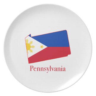 Filipinas señalan por medio de una bandera sobre platos para fiestas