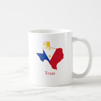 Filipinas señalan por medio de una bandera sobre taza de café