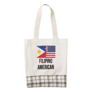 Filipino American Flag Zazzle HEART Tote Bag