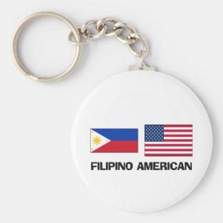 Filipino American Keychain