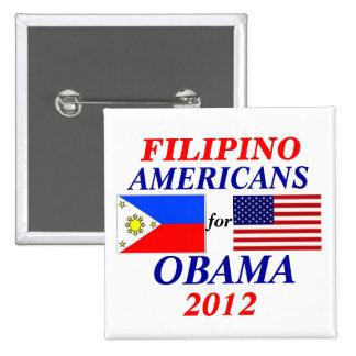 Filipino americans for Obama Button